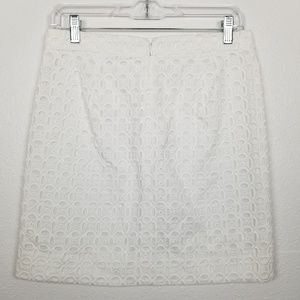 J. Crew Factory | eyelet | white | mini skirt